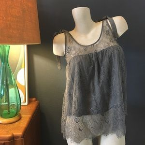 POL Tops - Lace Bow Tank